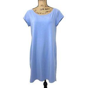 Eileen Fisher Periwinkle Blue Shift Dress